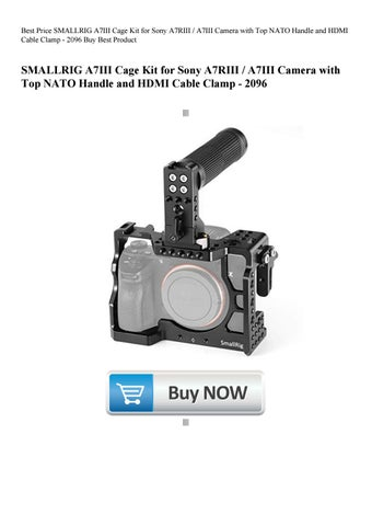 Best Price SMALLRIG A7III Cage Kit for Sony A7RIII A7III