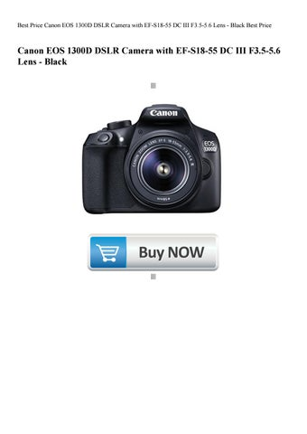 Best Price Canon EOS 1300D DSLR Camera with EF-S18-55 DC III