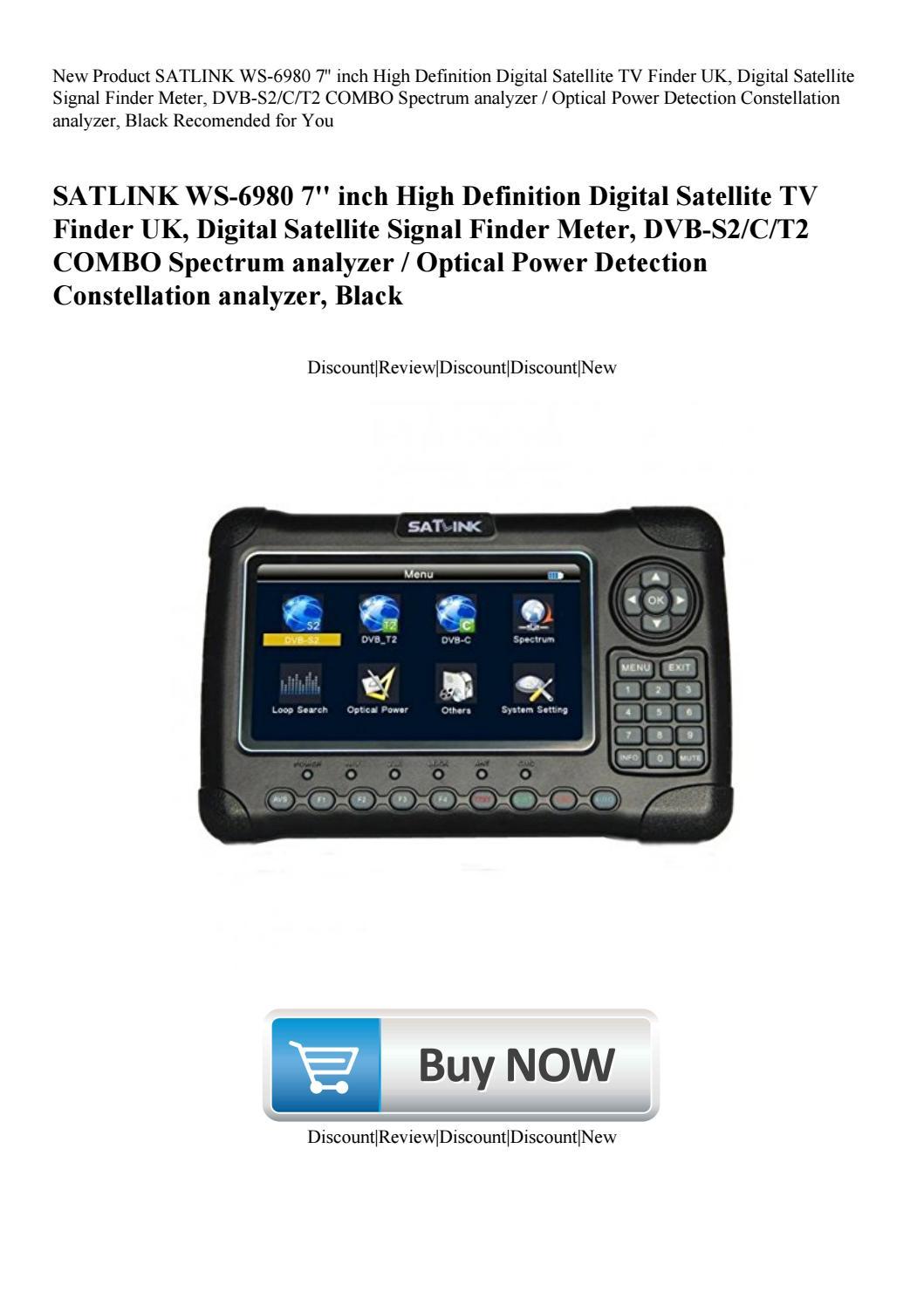SATLINK WS-6980 DVB-S2//C//T2 COMBO Spectrum analyzer Digital Satellite TV Finder