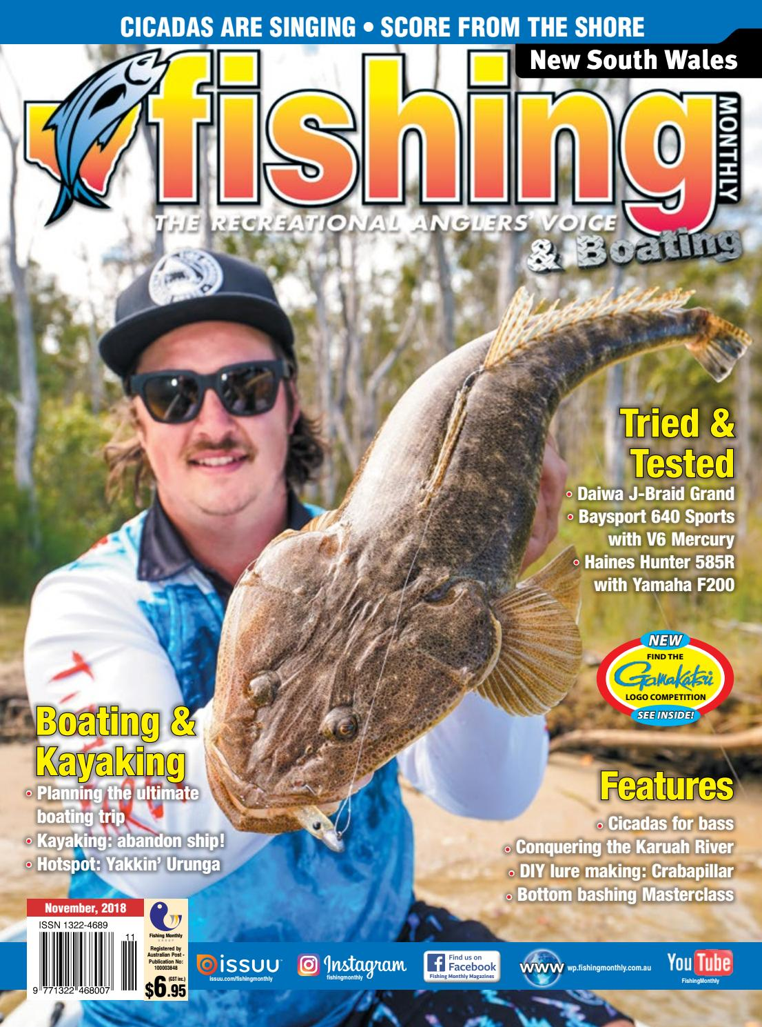 6a1c8279aaa New South Wales Fishing Monthly November 2018 by Fishing Monthly - issuu