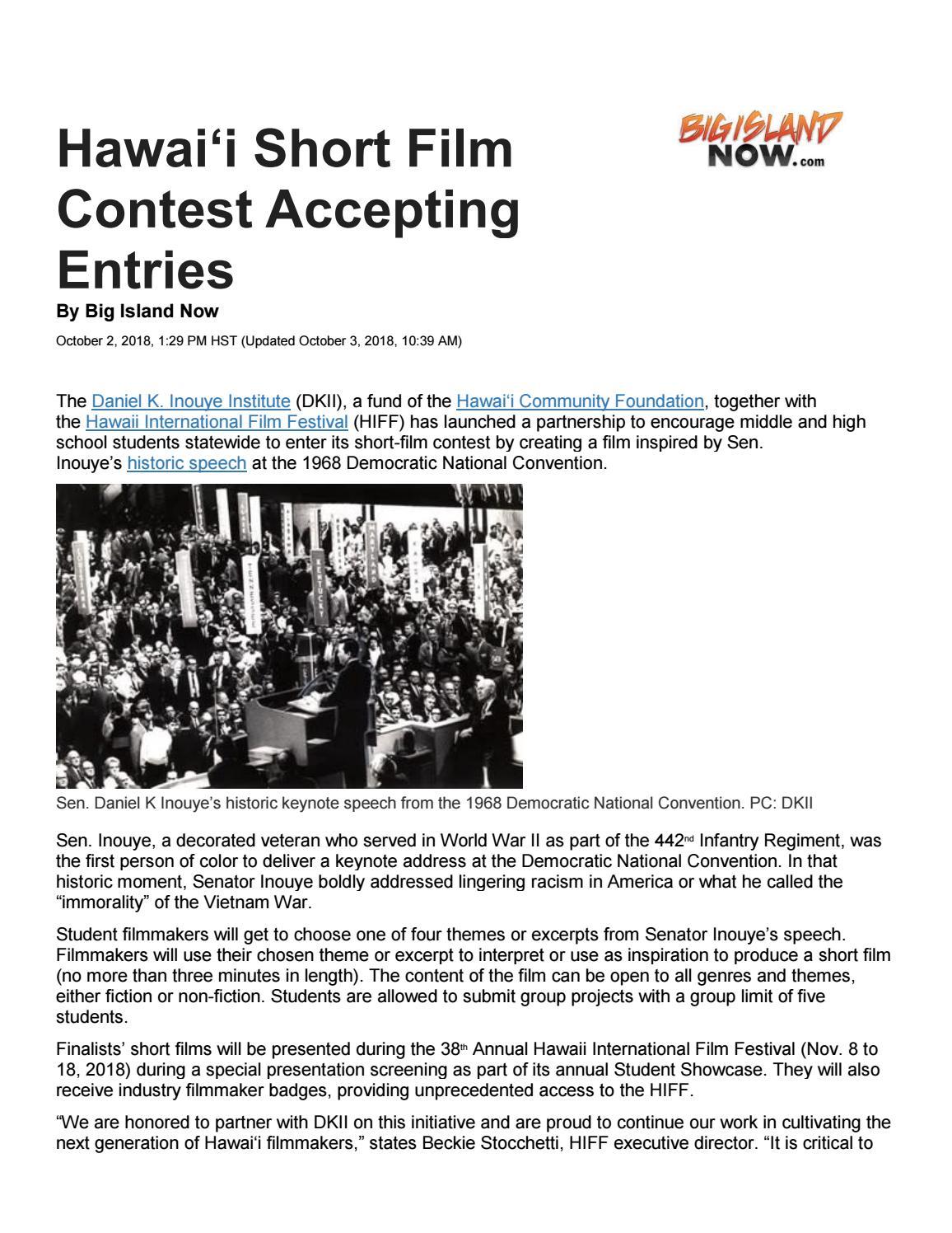 Hawaii Short Film Contest by Hawaii Community Foundation - issuu