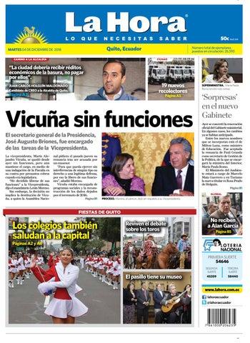 Quito 04 de diciembre de 2018 by Diario La Hora Ecuador - issuu aca6251cd264e