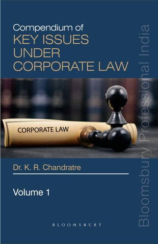 Compendium of Key Issues under Corporate Law by Bloomsbury
