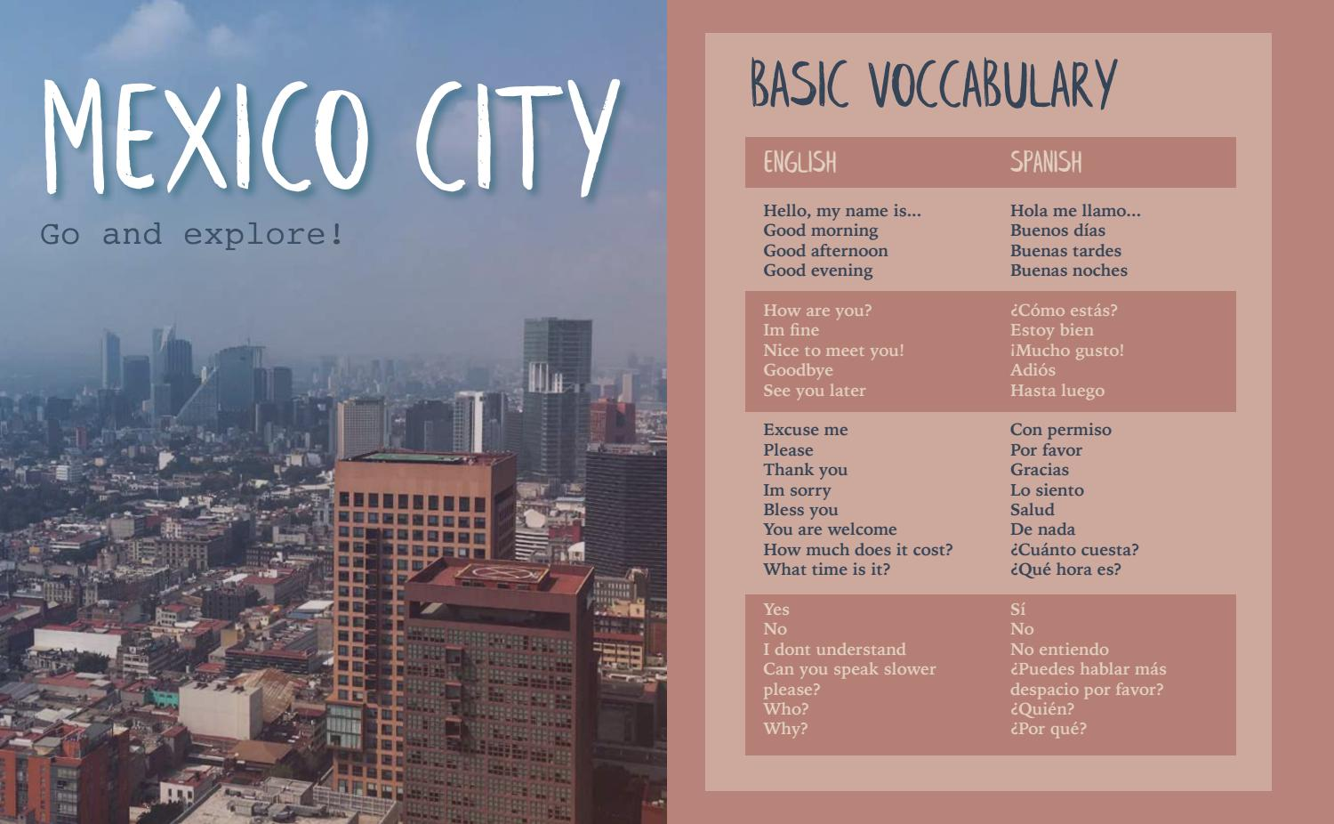Mexico City Go And Explore By Veronika Rehm Issuu Use the illustrations and pronunciations below to get started. issuu