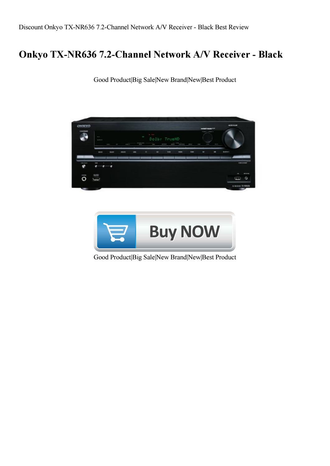 Discount Onkyo TX-NR636 7 2-Channel Network AV Receiver - Black Best