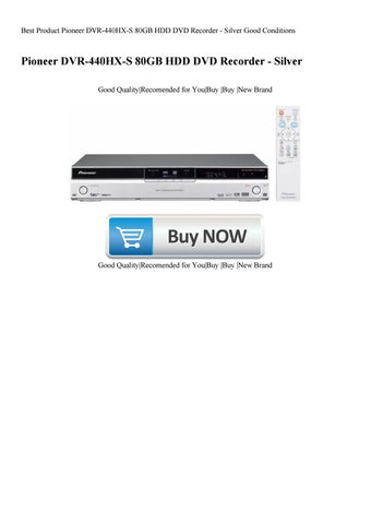 Pioneer DVR-440HX-S Recorder Drivers for Windows Download