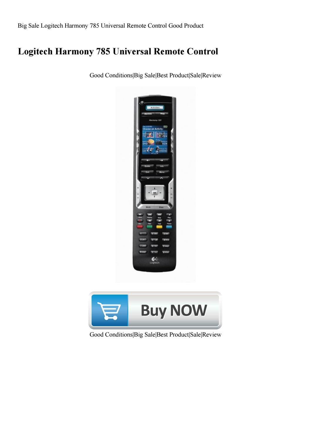 Big Sale Logitech Harmony 785 Universal Remote Control Good