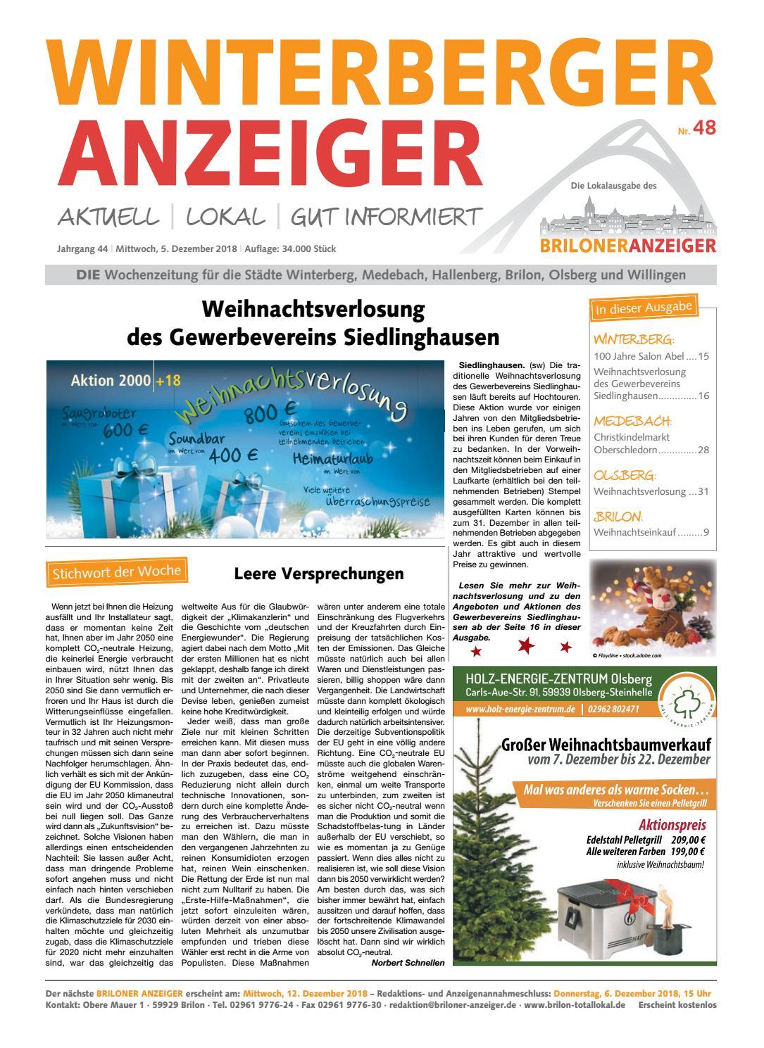 Winterberger Anzeiger Ausgabe vom 05.12.2018 Nr.48 by Brilon ...