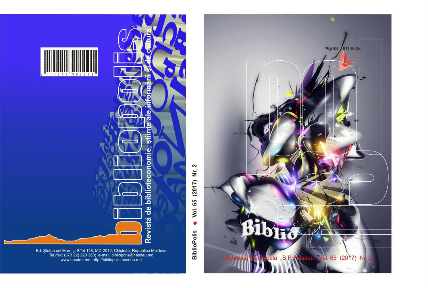 BiblioPolis, 2017, nr  2, vol  65 by Biblioteca Municipala
