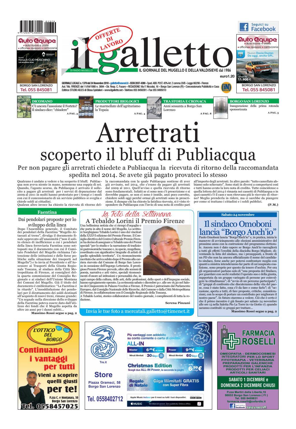 galletto n° 1379 del 24 novembre by Il Galletto Giornale - issuu b29076a20a1