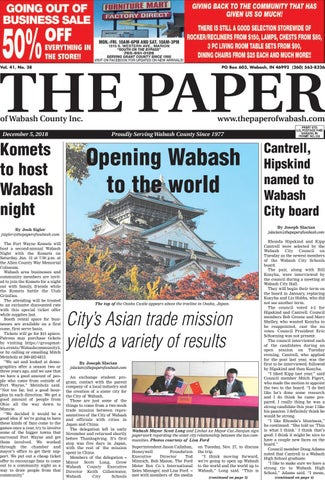 The Paper Of Wabash County Dec 5 2018 Issue By The Paper Of