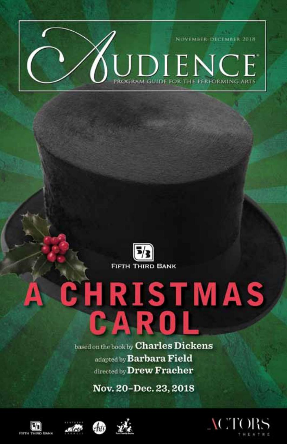 Audience - A Christmas Carol - December 2018 by Audience502