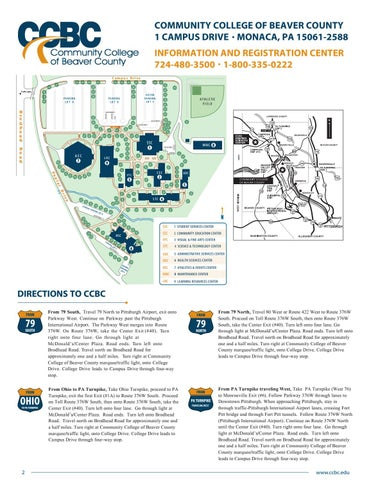 Millikin University Campus Map.2017 2018 Ccbc Academic Catalog By Community College Of Beaver