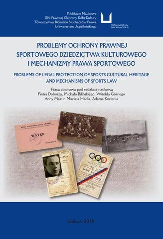 3d623a594 Problemy ochrony prawnej sportowego dziedzictwa kulturowego i ...