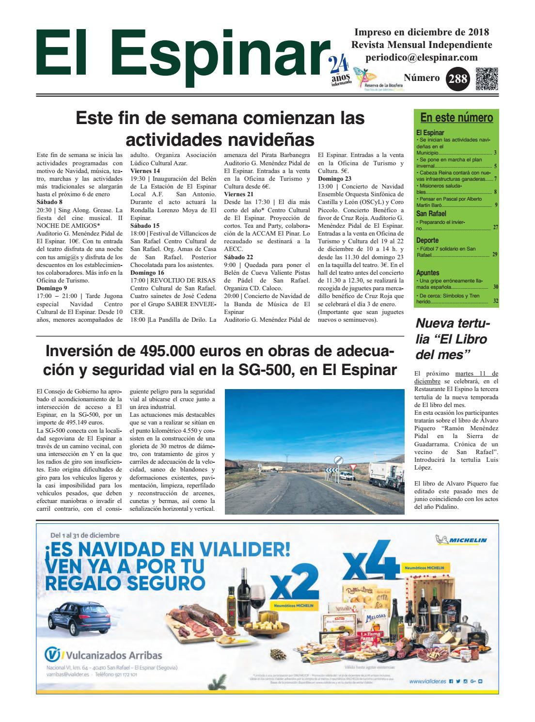 2d99a9bf96 Periódico El Espinar nº288 by juan jesus maria garcia - issuu