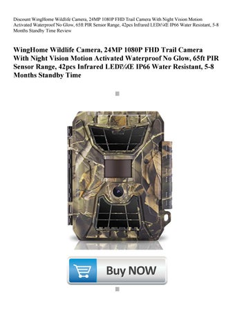 f0deb216cb Discount WingHome Wildlife Camera 24MP 1080P FHD Trail Camera With Night  Vision Motion Activated Wa