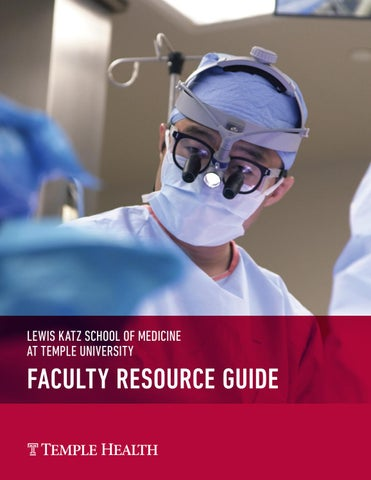 Faculty Resource Guide Lewis Katz School Of Medicine At Temple