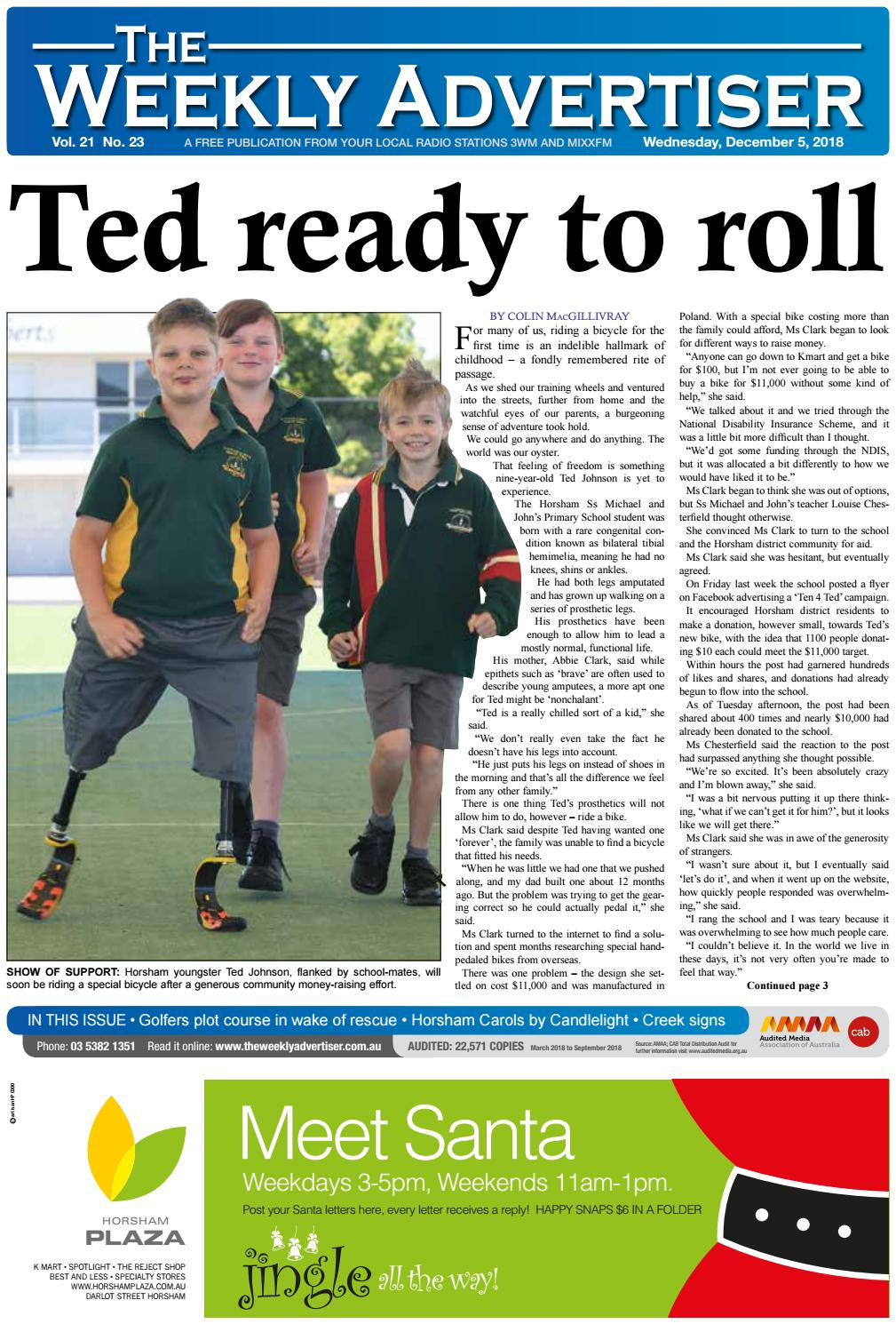 The Weekly Advertiser - Wednesday, December 5, 2015 by The