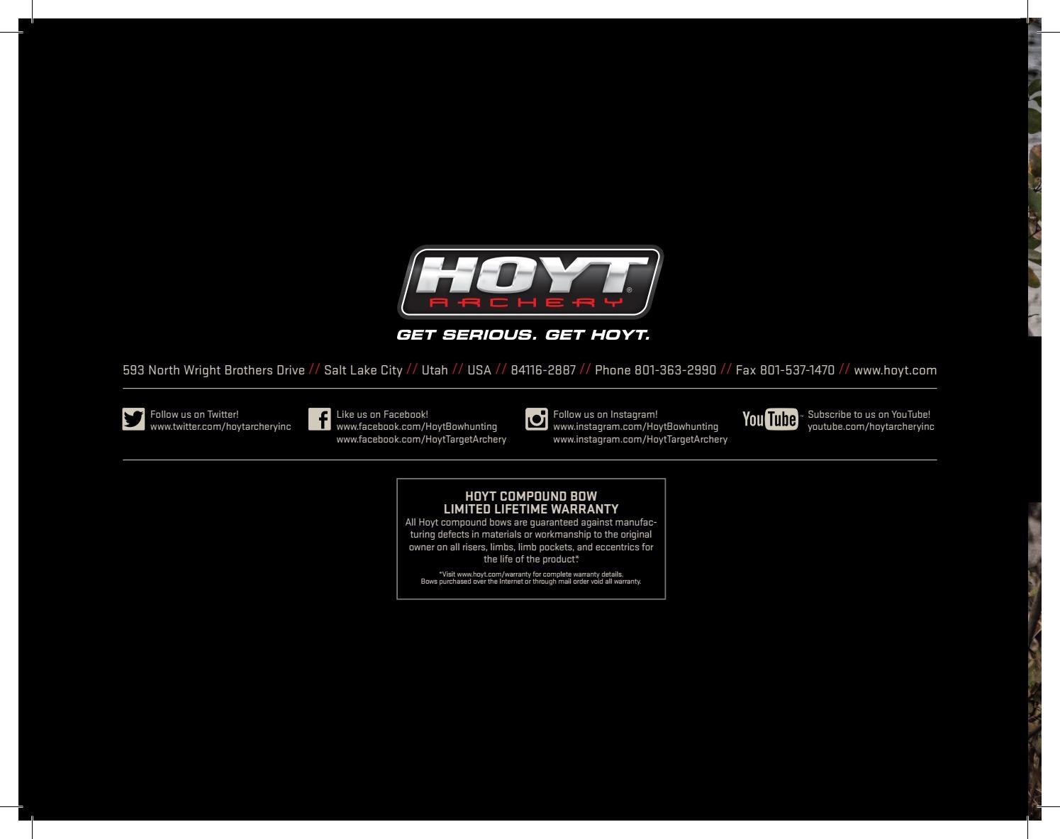 Hoyt 2018 Hunting Compound Bows Manual by Davy Goedertier