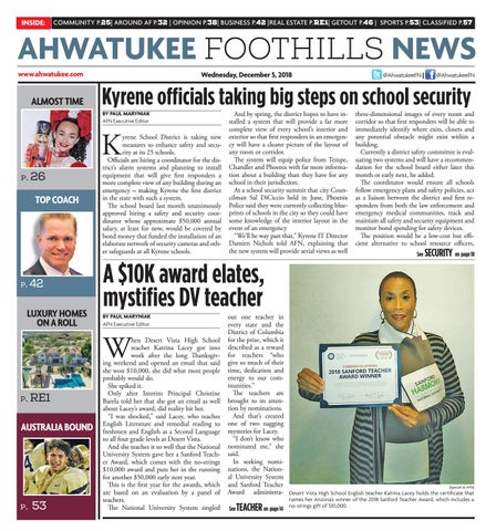 Ahwatukee Foothills News - December 5, 2018 by Times Media Group - issuu