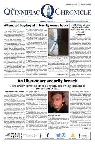The Quinnipiac Chronicle, Volume 89, Issue 13 by The Quinnipiac