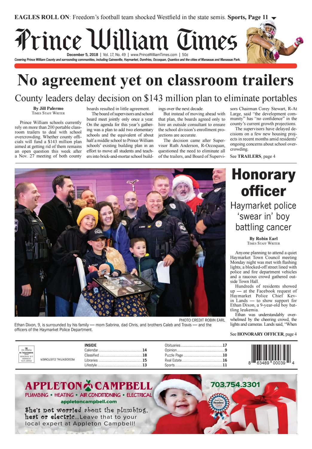 prince william times december 5 2018 by fauquier times issuu prince william times december 5 2018