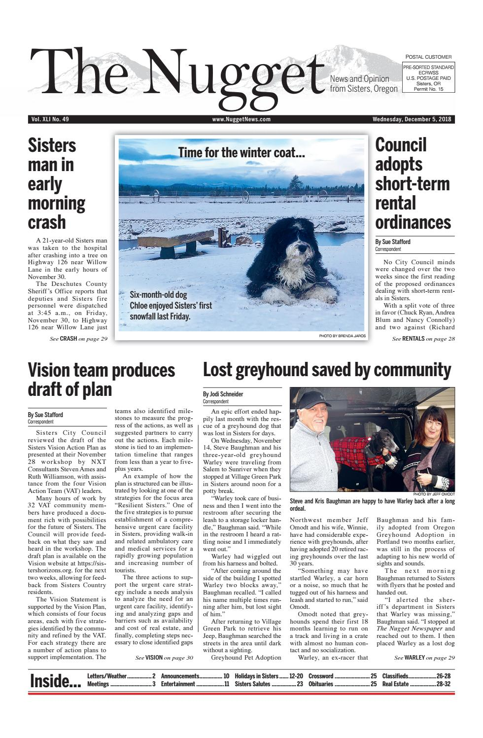 The Nugget Newspaper // Vol  XL No  49 // 2018-12-05 by