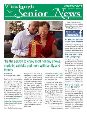 December 2018 PSN by Pittsburgh Senior News - issuu