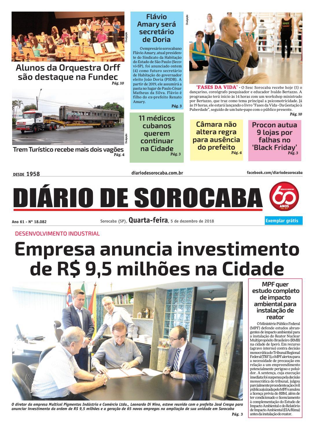 Quarta, 5 de dezembro by DIÁRIO DE SOROCABA - issuu ef0125eb22