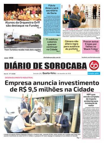 9fb1889cbb0fb Quarta, 5 de dezembro by DIÁRIO DE SOROCABA - issuu