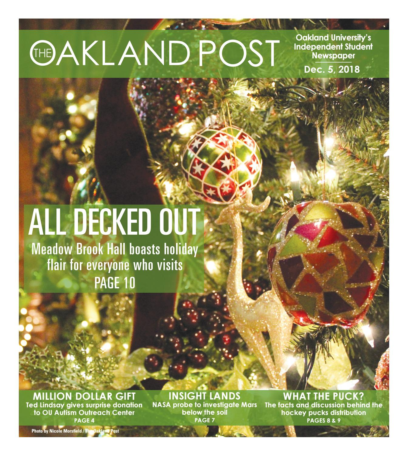 The Oakland Post 12 5 18 by The Oakland Post issuu