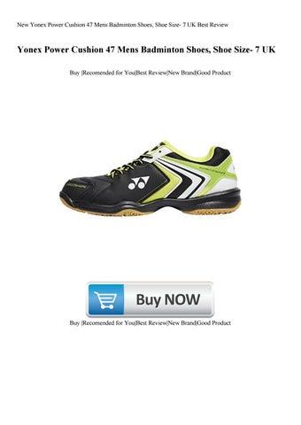 New Yonex Power Cushion 47 Mens Badminton Shoes Shoe Size 7 Uk Best Review