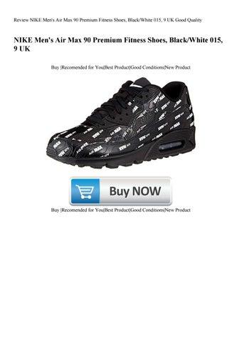 the latest ef25d 01e6d Review NIKE Mens Air Max 90 Premium Fitness Shoes BlackWhite 015 9 UK Good  Quality