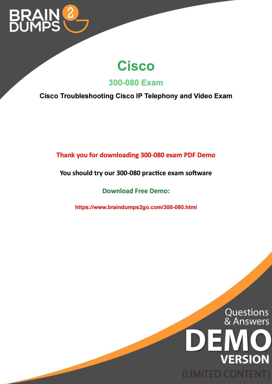 Big Offer New Year 2019- 20% Off On Cisco 300-080 Exam by