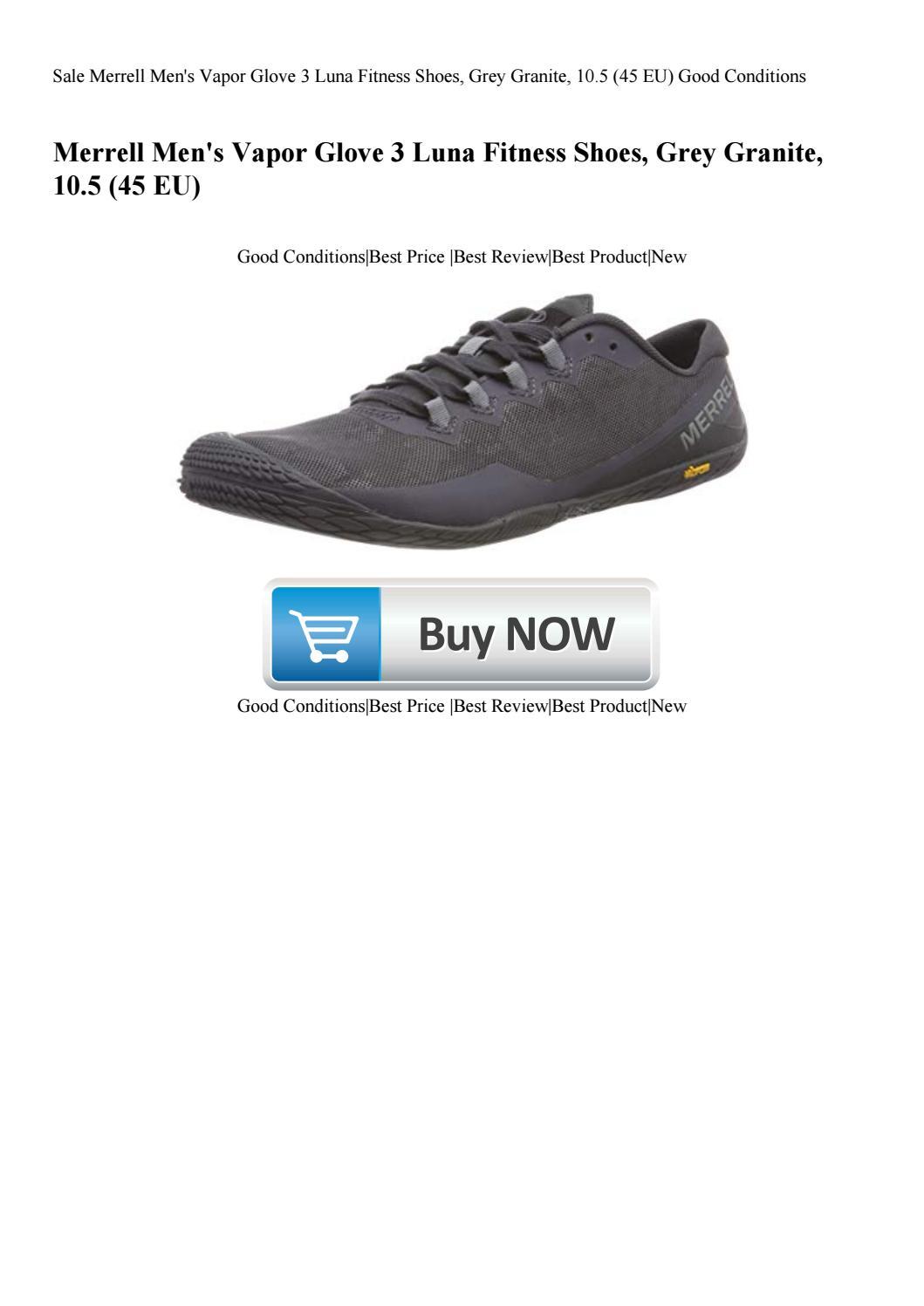 Sale Merrell Men S Vapor Glove 3 Luna Fitness Shoes Grey Granite