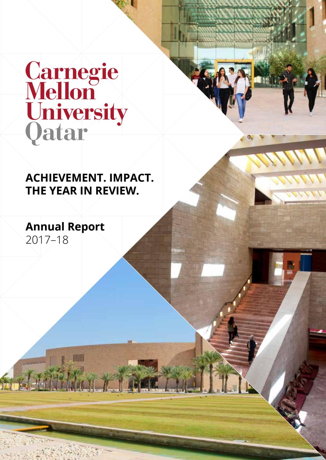 Carnegie Mellon University in Qatar's Annual Report for 2017
