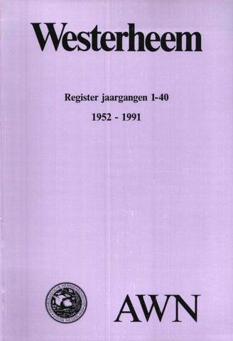 Registers 1952 1991 by AWN MagazineWesterheem issuu