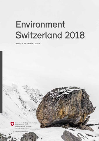 70169ab08de3 Environment Switzerland 2018 by Federal Office for the Environment ...