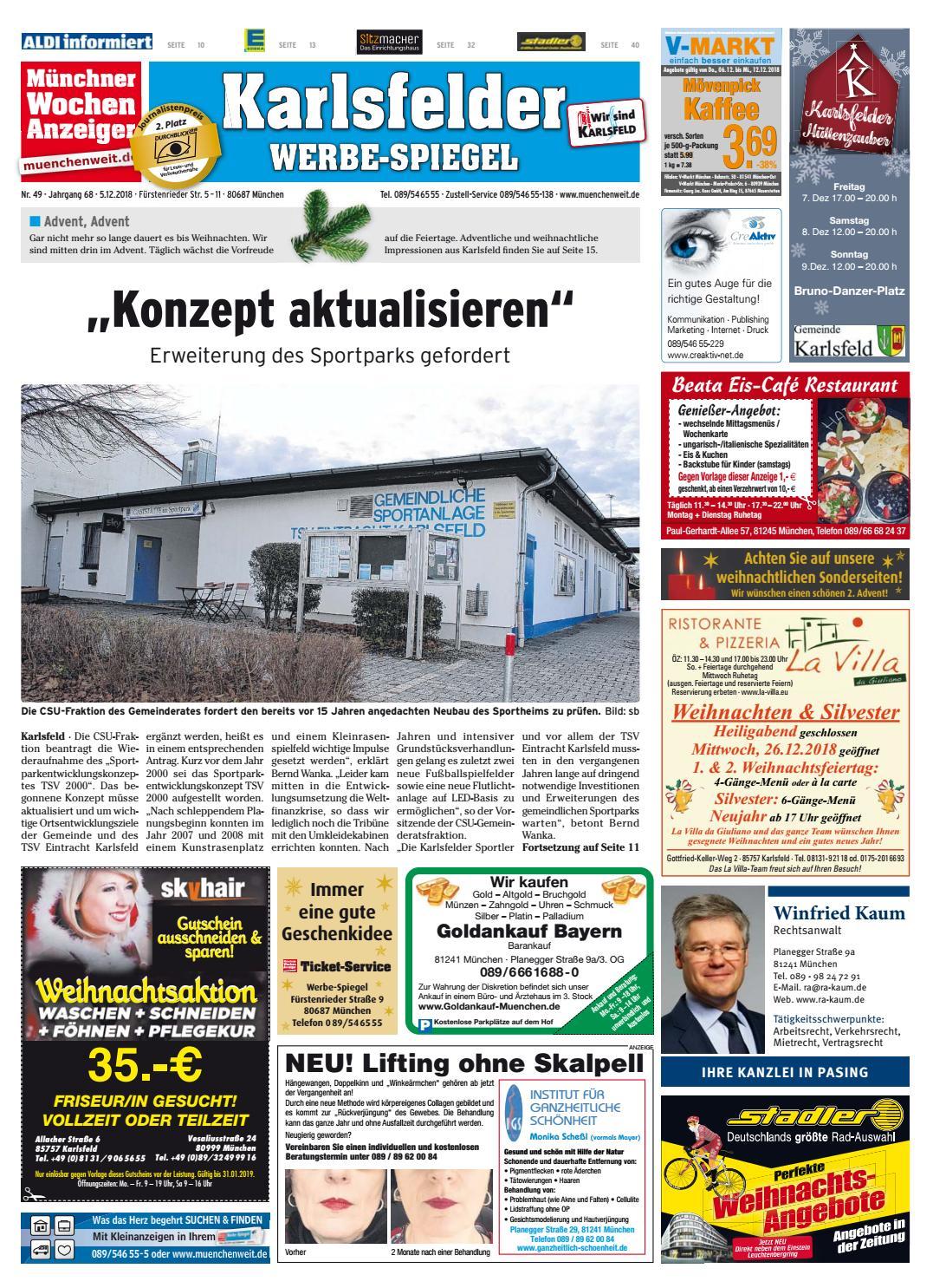 Kw 49 2018 By Wochenanzeiger Medien Gmbh Issuu