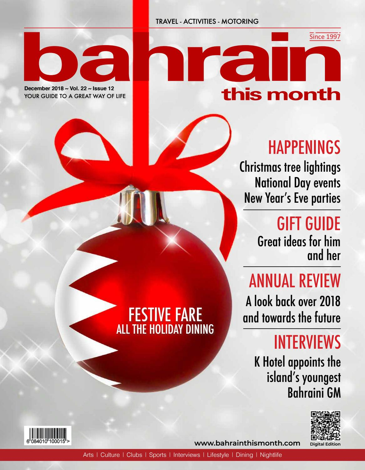 308eace7be9 Bahrain This Month - December 2018 by Red House Marketing - issuu