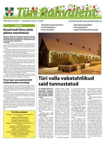72c9d793237 06.12.2018 Türi Rahvaleht by Tyri Development Agency - issuu