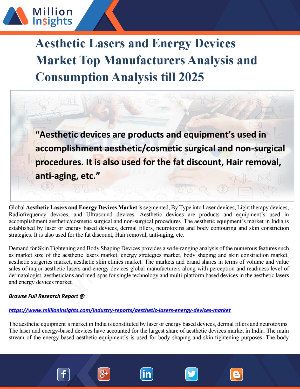 Aesthetic Lasers and Energy Devices Market Top Manufacturers