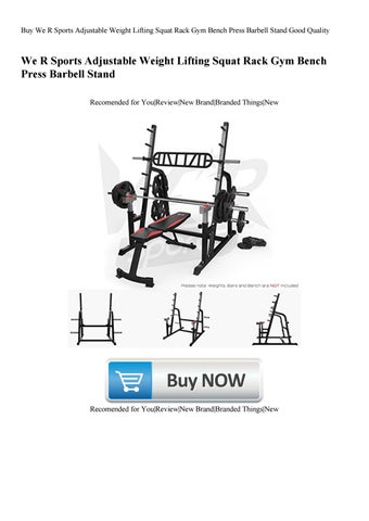 Buy We R Sports Adjustable Weight Lifting Squat Rack Gym Bench Press