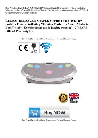Best Price GLOBAL RELAX ZEN SHAPER Vibration plate (2018 new model