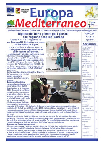 cf6a3e0ace Europa & Mediterraneo n. 48 del 5 dicembre 2018 by Euromed Carrefour ...