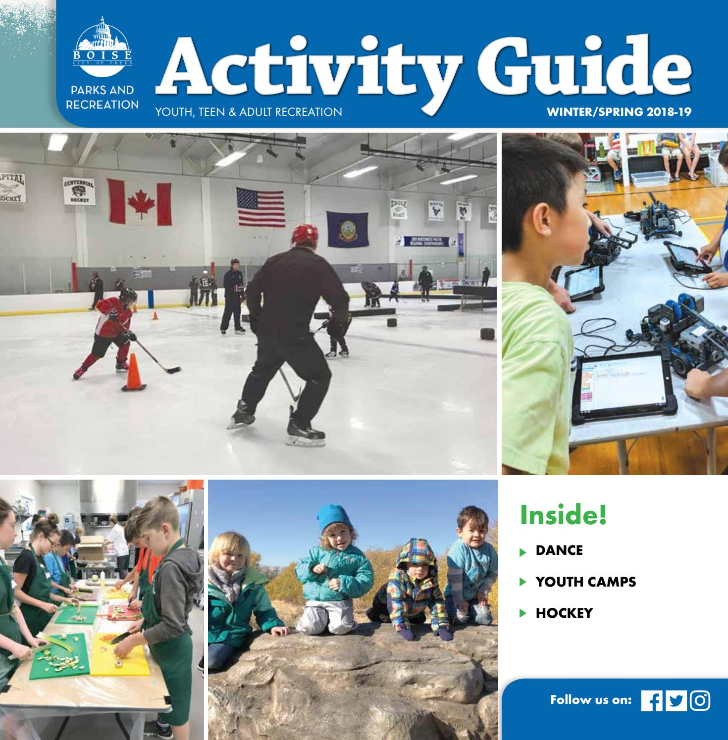 Boise Parks And Recreation Winter Spring 2018 19 Activity Guide By