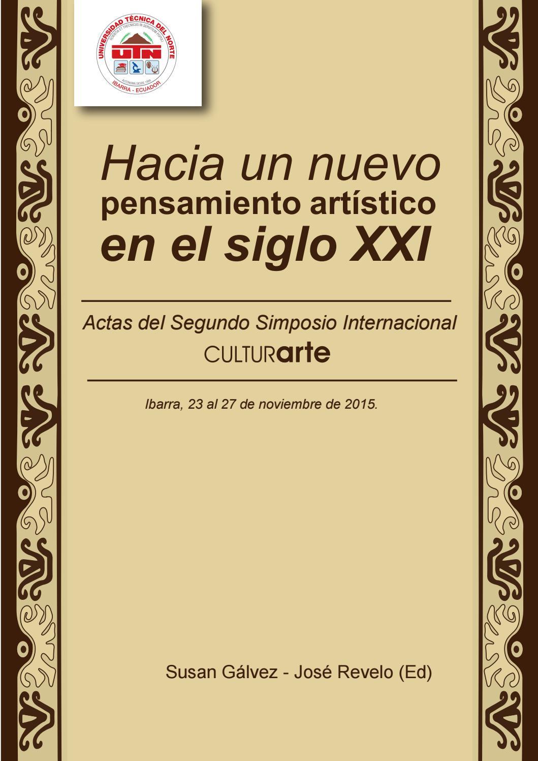 6b84fb4dc II Simposio Interncacional CulturArte by Editorial Universidad Técnica del  Norte UTN - issuu