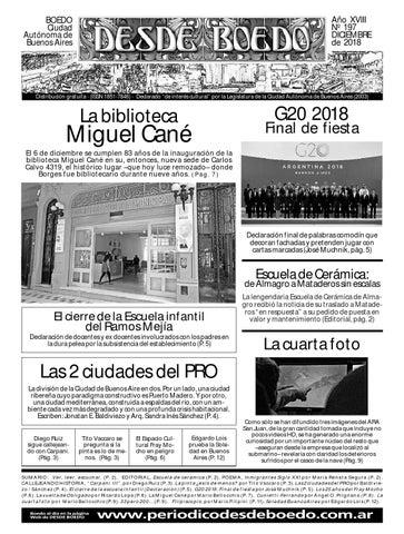 1ecc21ac2a37 DESDE BOEDO 197 dic 2018 by Pdesdeboedo - issuu