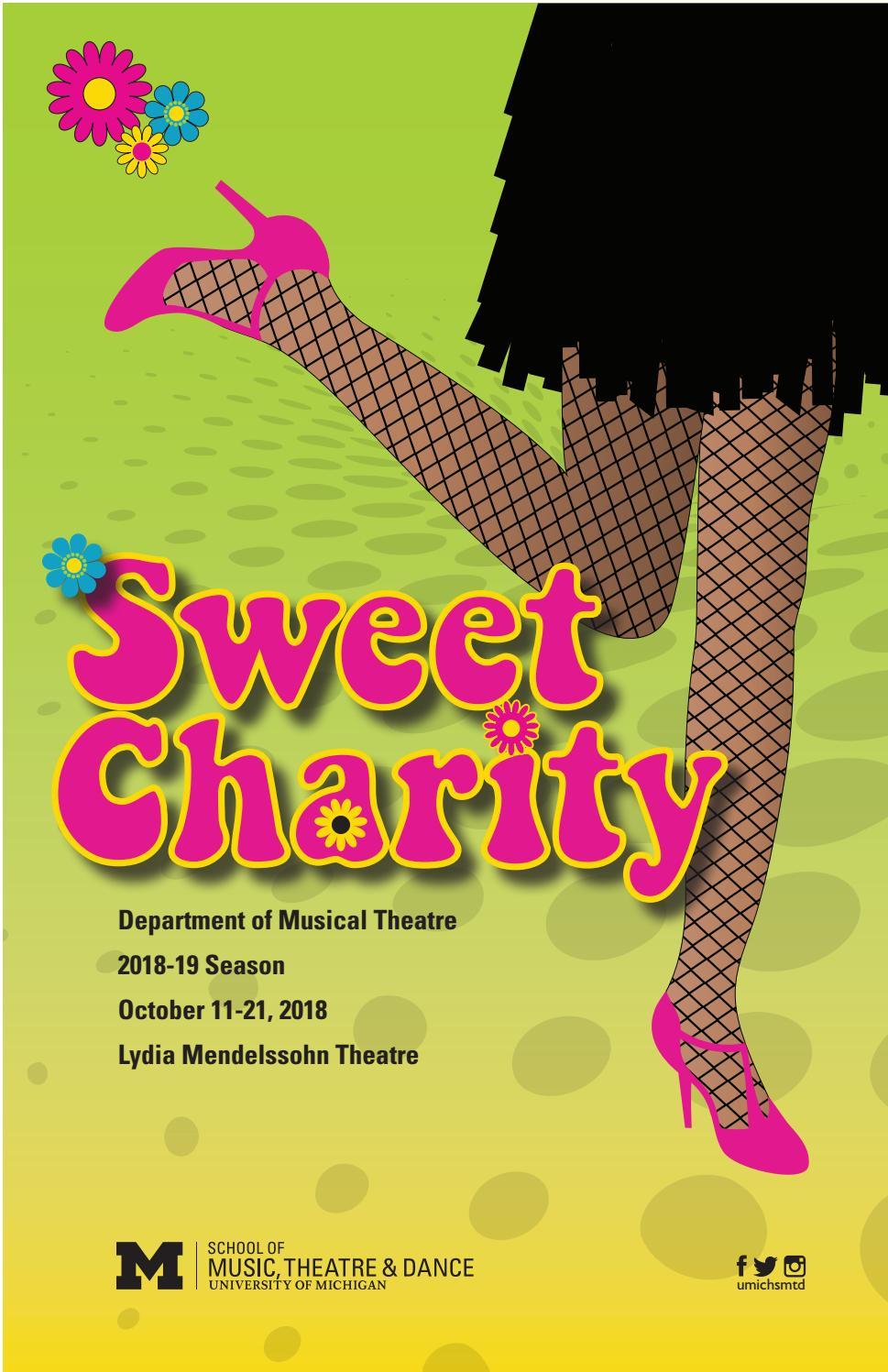 Sweet Charity program by University of Michigan School of