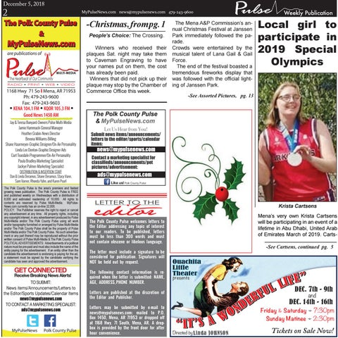 Page 2 of Krista Cartsens to Participate in the Upcoming World Special Olympics